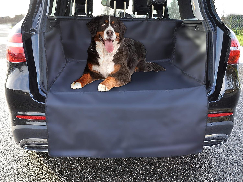 Milanino Kofferraumschutz Hund Mit Seitenschutz Autoschutzdecke Kofferraum Schutz Für Kfz Suv Robuste Schutzmatte Für Hunde Tiere Universal Hundedecke Auto Kofferraummatte In Schwarz Haustier