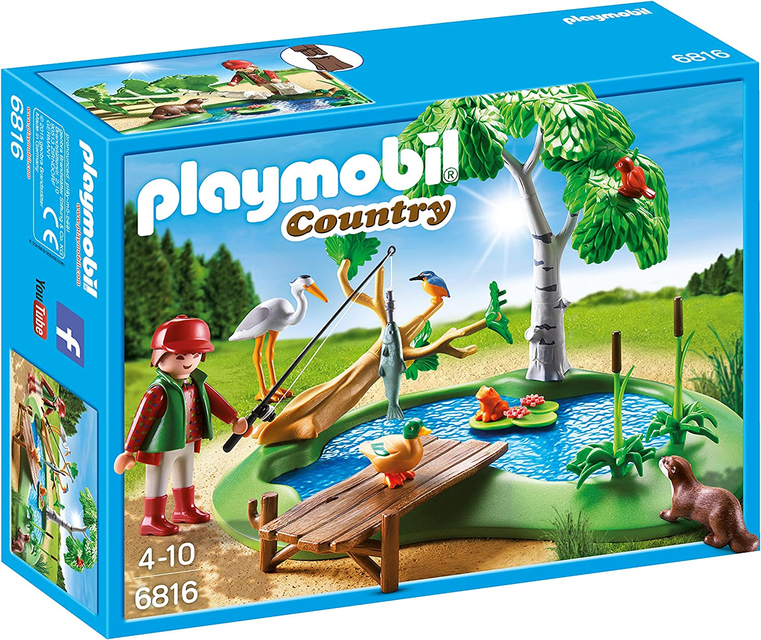 Playmobil Vida en el Bosque - Country Lago con Animales Playsets de Figuras de jugete, Color Multicolor (Playmobil 6816)