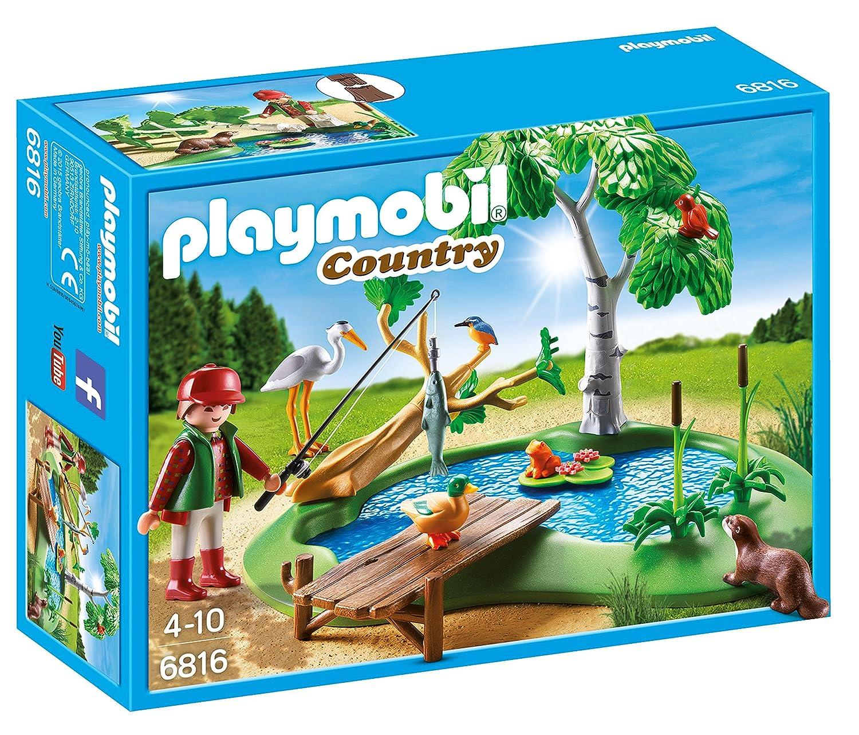 Playmobil Vida en el Bosque - Lago con Animales (6816): Amazon.es: Juguetes y juegos