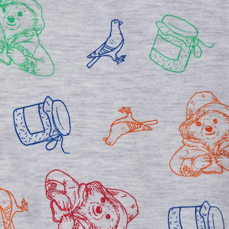 Paddington Bear Pyjamas Kids Full Length Bottoms with Long Sleeve T-Shirt Boys Girls Unisex Character Pjs Gift Set