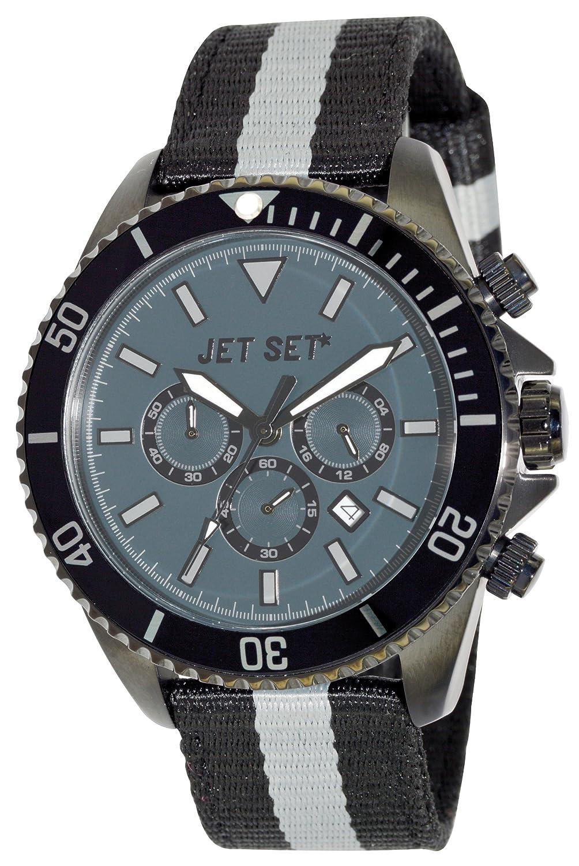 Jet Set Herren-Armbanduhr Speedway Chronograph Quarz Textil J2120B-12