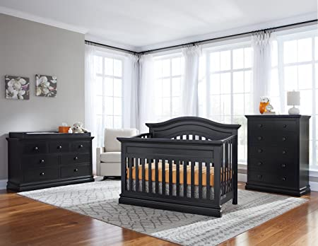 Westwood Design Stone Harbor 4 in 1 Convertible Crib, Black