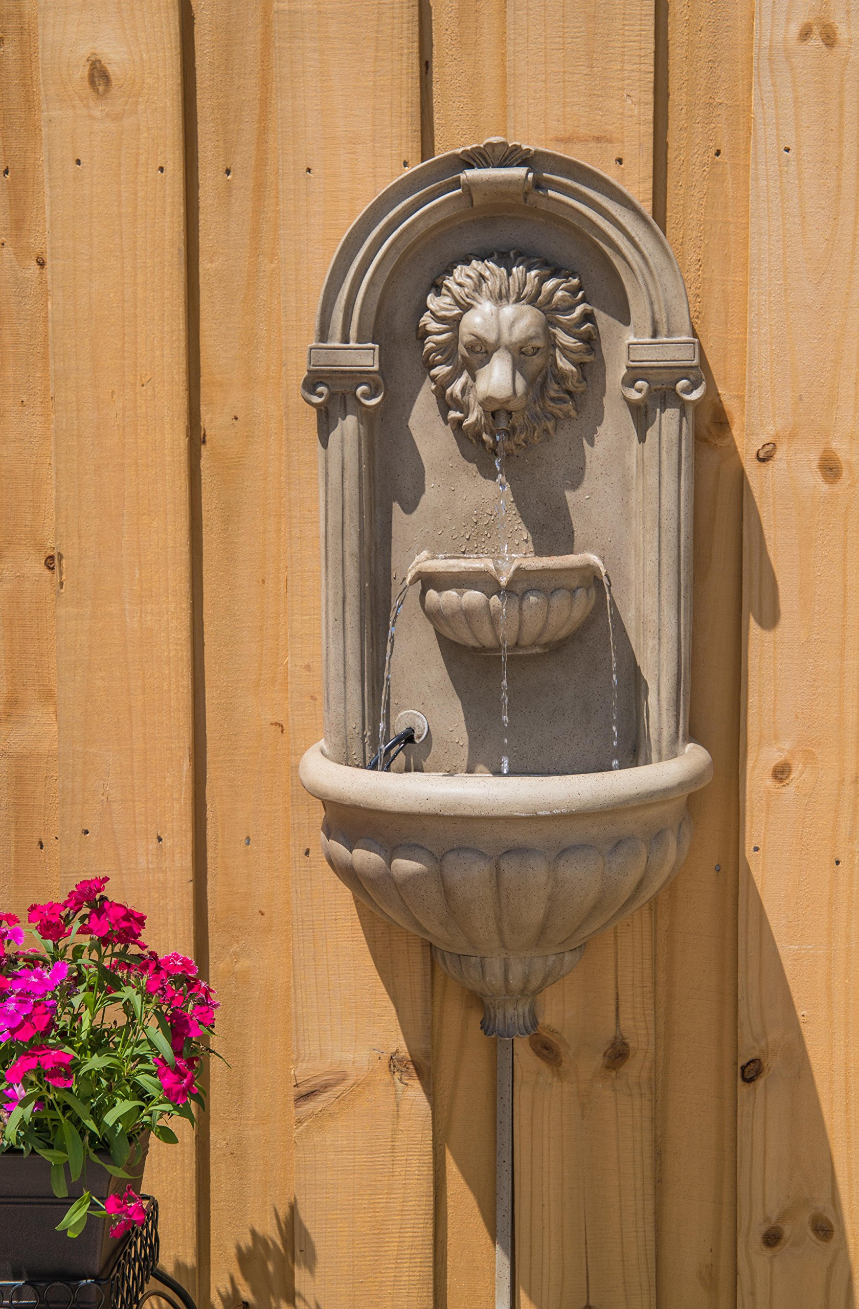 Kenroy Home 51043SNDST Royal Wall Fountain with Light, Sandstone Finish by Kenroy Home (Image #2)