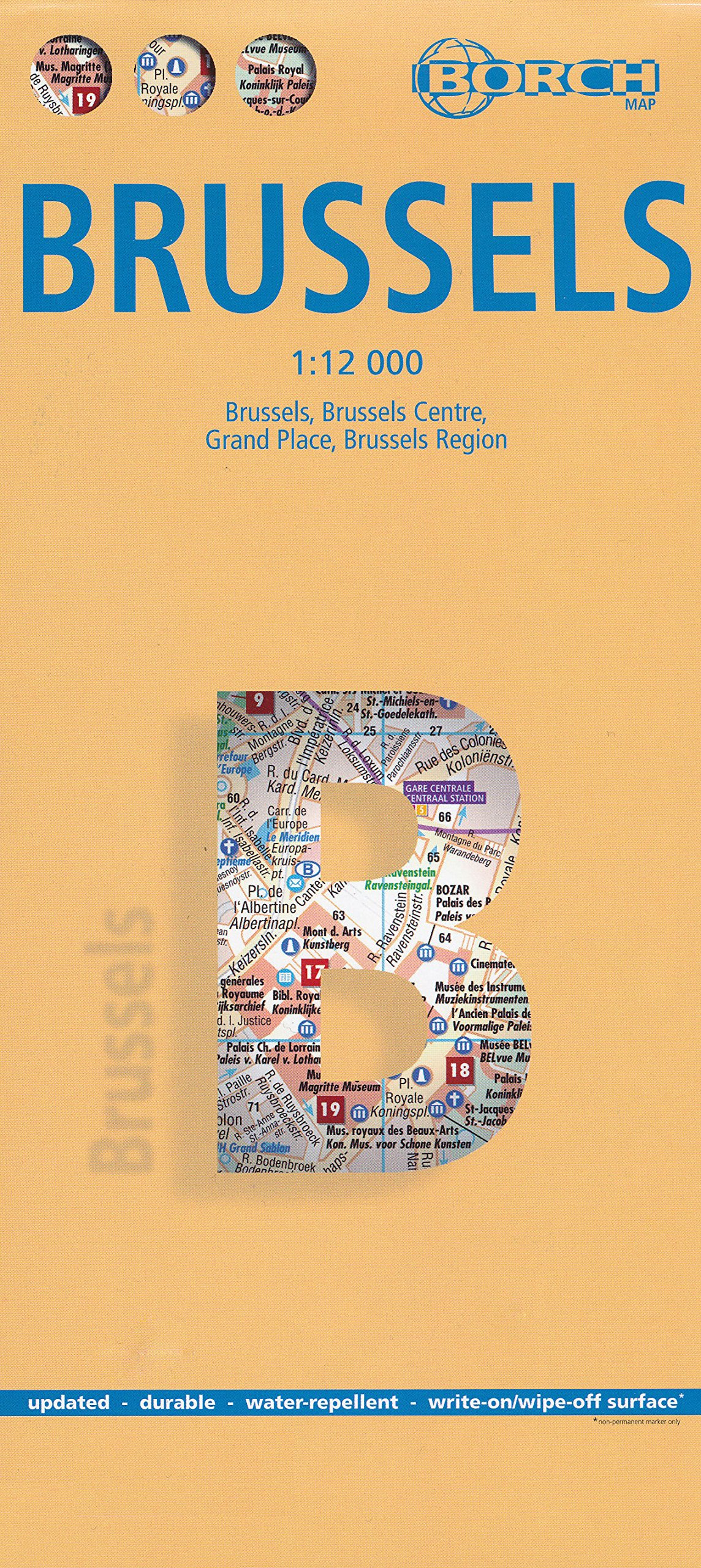 Brussels City Map: Borch: 9780702814242: Amazon.com: Books