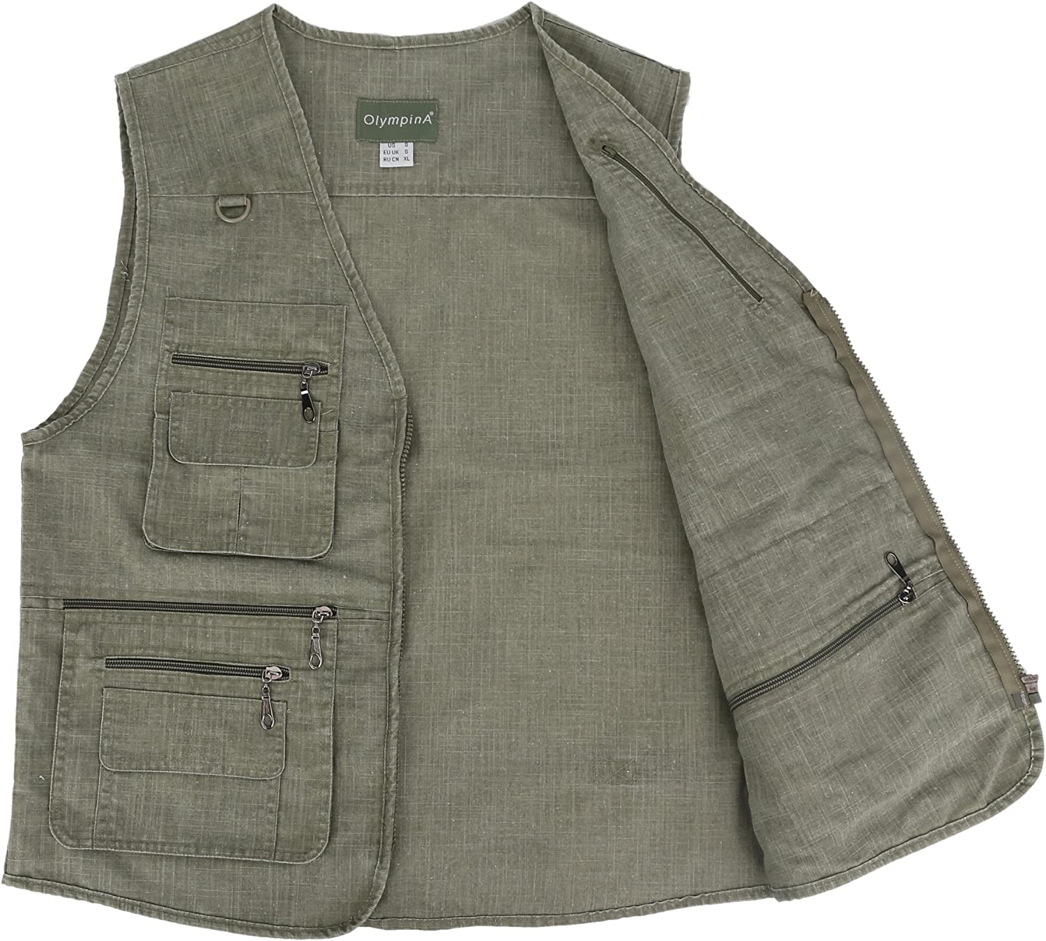 LUSI MADAM Mens Linen Outdoors Lightweight Travel Vests with Pockets