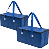 Planet E Reusable Grocery Shopping Bags Trunk Size Extra Large Collapsible Insulated zippered Coolers with Reinforced…