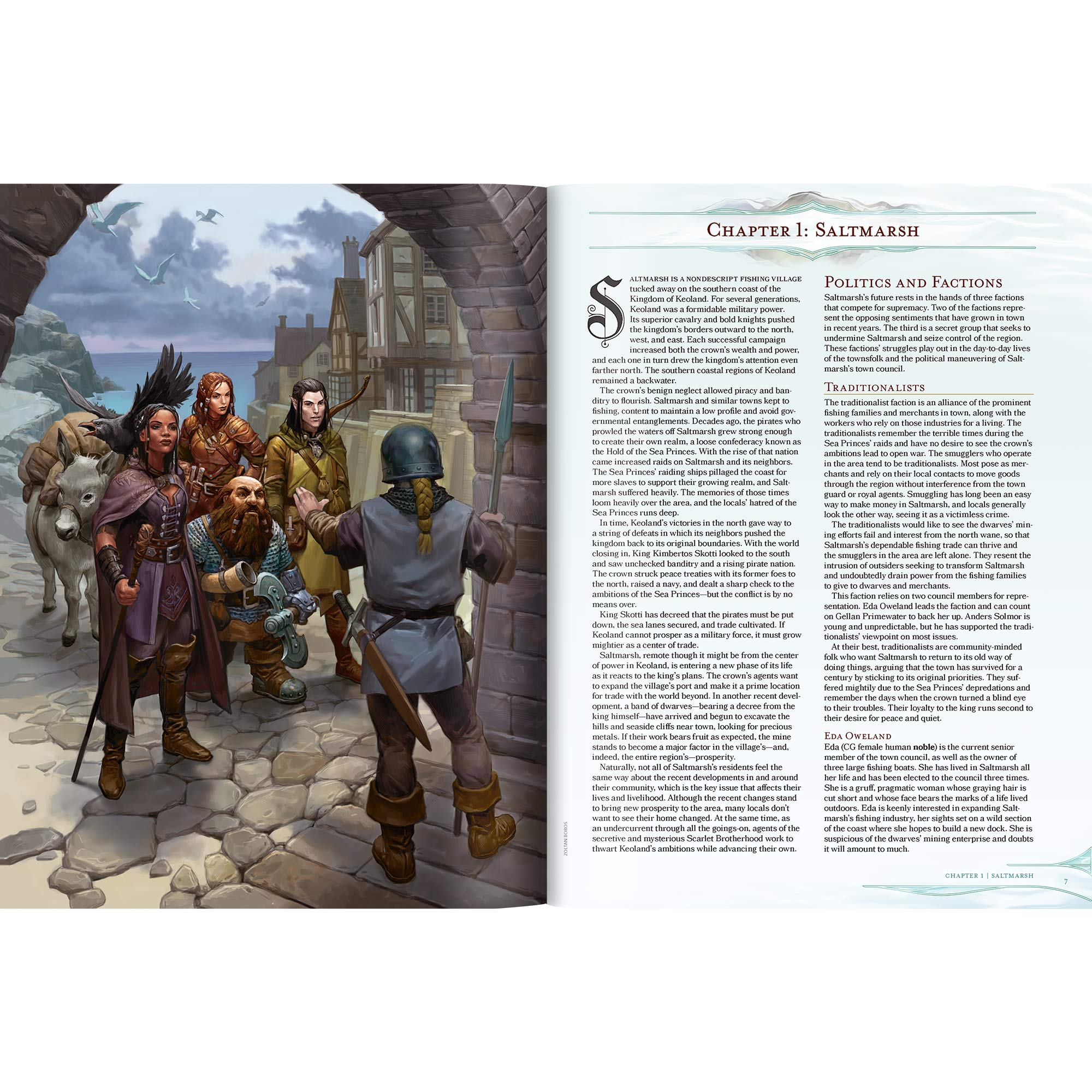 Dungeons & Dragons Ghosts of Saltmarsh Hardcover Book (D&D