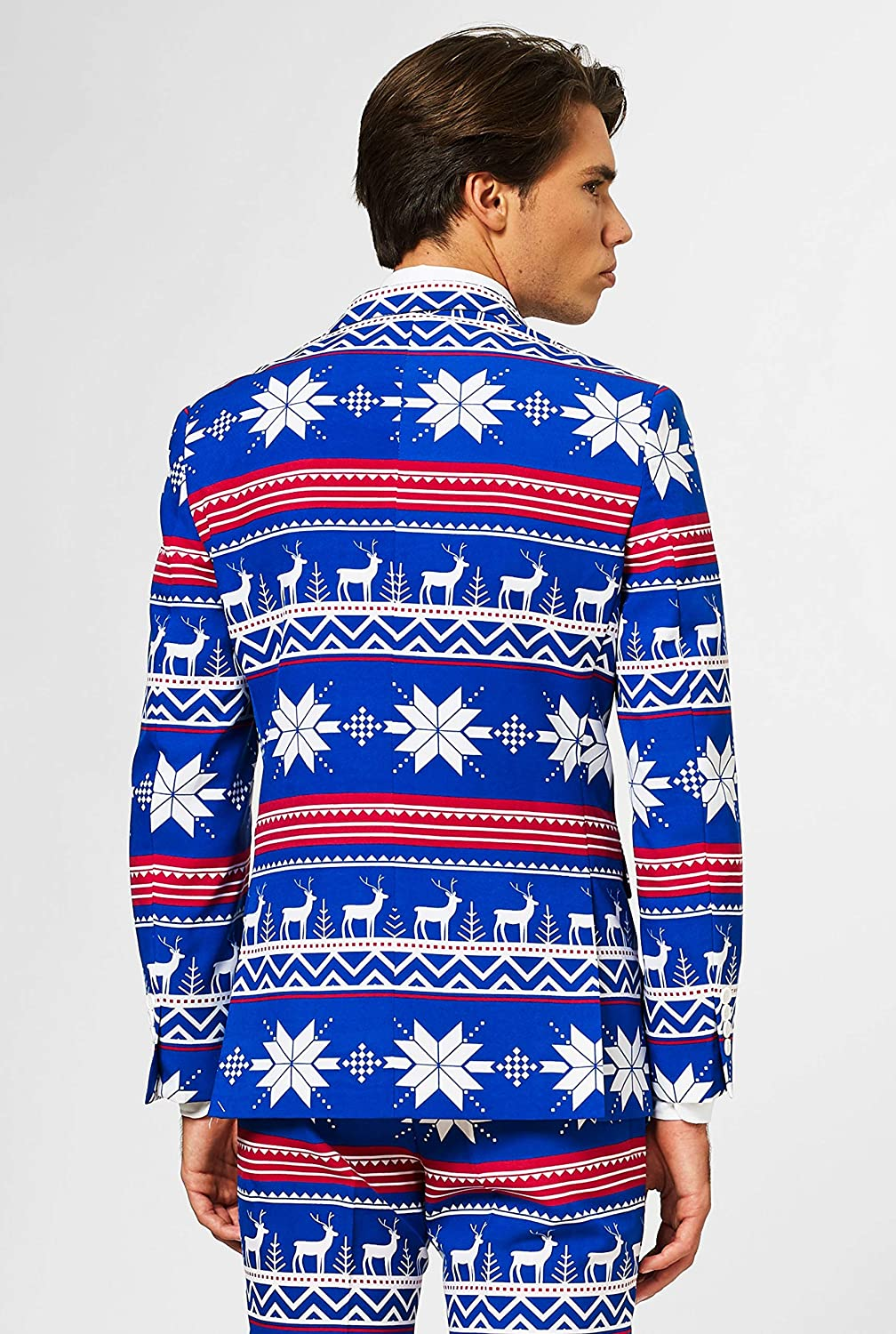 OppoSuits Mens Christmaster Party Costume Suit