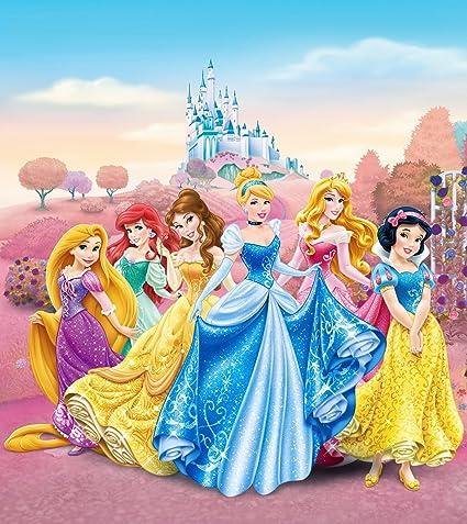 Disney Princess 2 Part Photo Mural Wallpaper For Childrens Room Paper Multi Colour 01 X 180 X 202 Cm