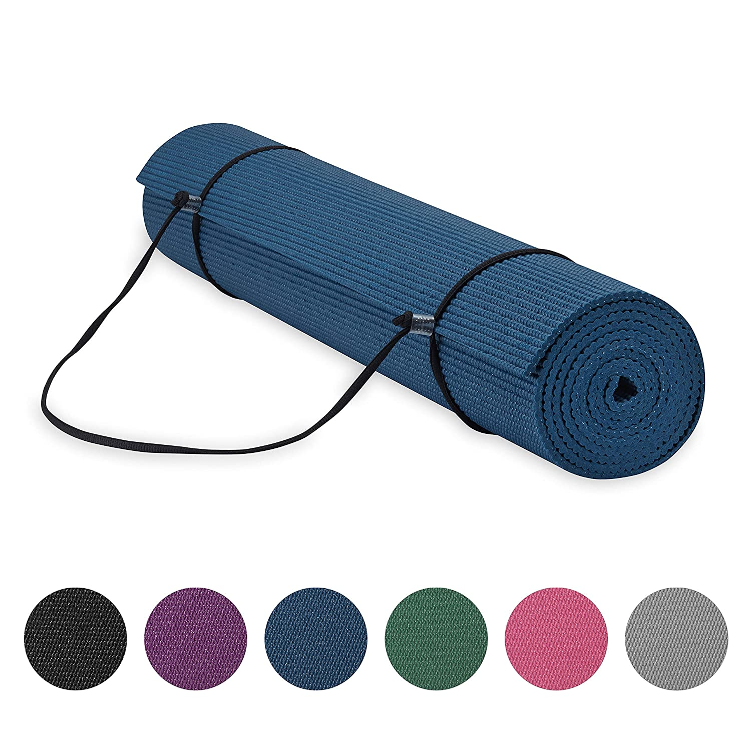 Gaiam Essentials - Esterilla de Yoga con Soporte para ...