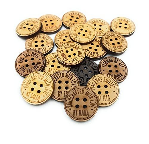 tags Personalized buttons,CrafterSignature Buttons,Business Logo,Shop Name,knitting buttons,crochet buttons,Sewing buttons,crafters buttons