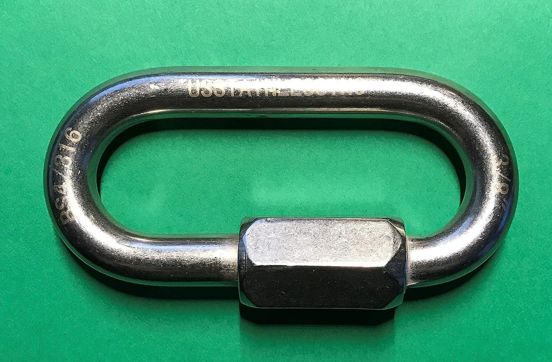 Acier inoxydable 316/Maillon rapide 3//20,3/cm Qualit/é Marine