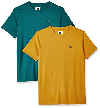 Symbol Amazon Brand Mens Cotton Round Neck T Shirt Pack Of 2