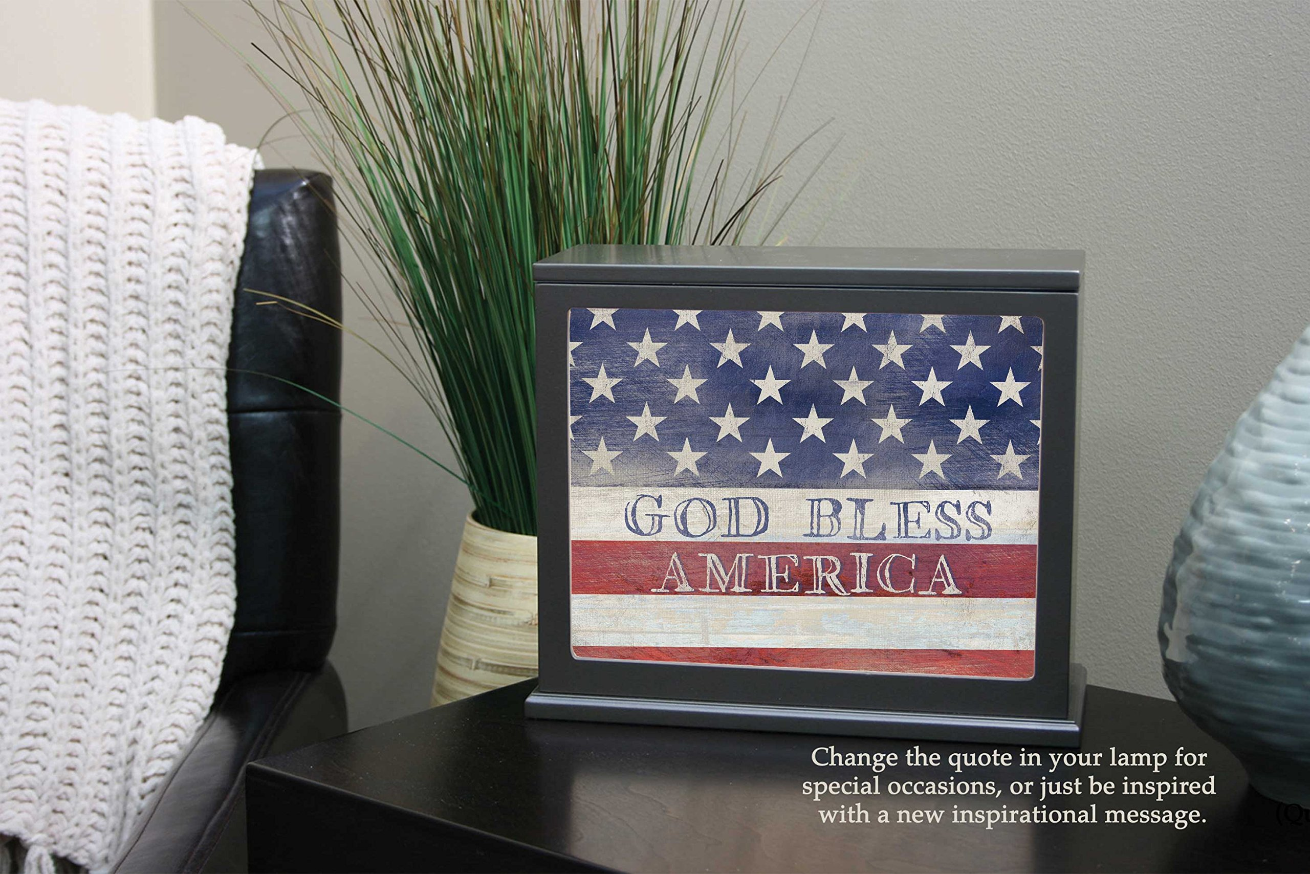 Jada Venia 9.75'' x 7.75'' God Bless America Light Box Insert