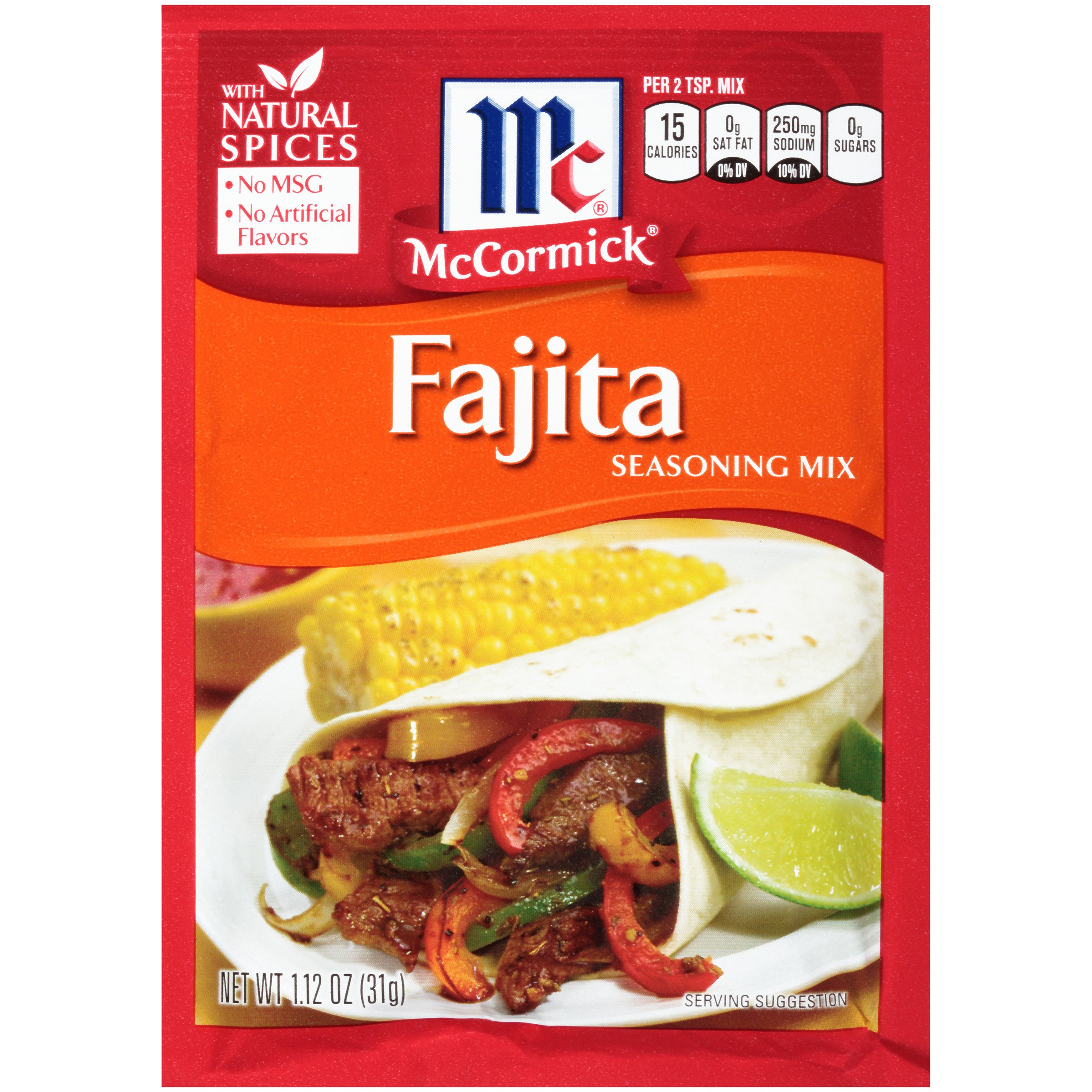 McCormick Fajitas Seasoning Mix, 1.12 OZ by McCormick (Image #1)