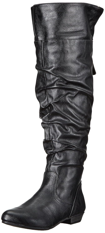 Amazon.com | Fergalicious Women's Rookie Wide Calf Slouch Boot | Knee-High