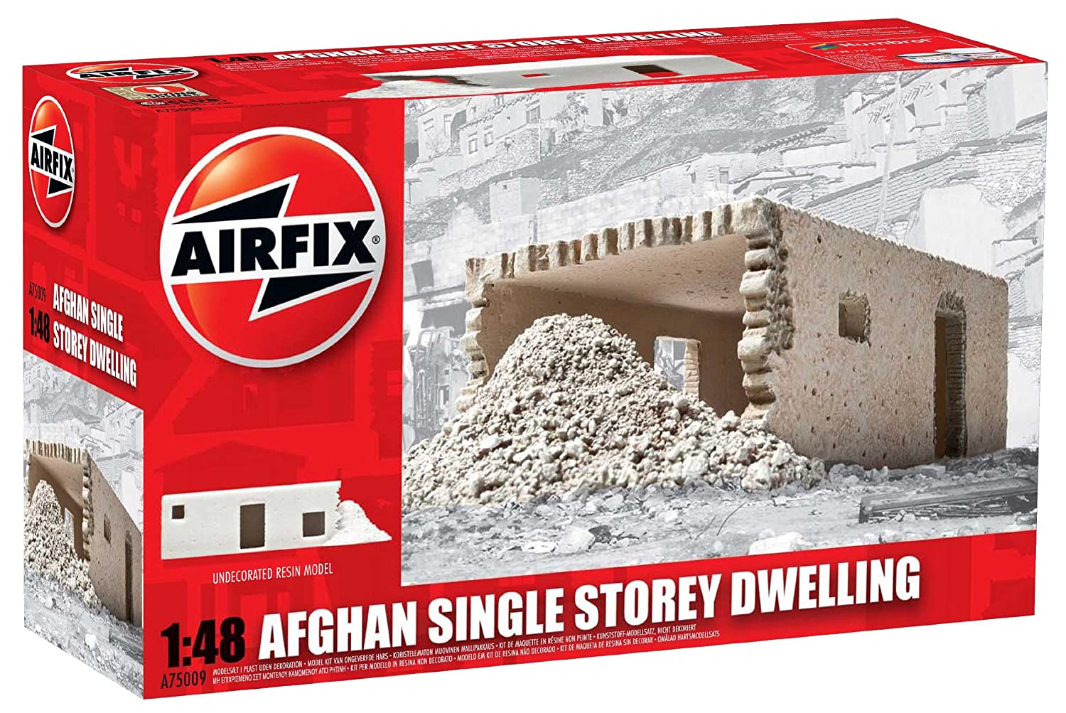 Airfix A75009 Afghan Single Storey Dwelling 1:48 Scale Unpainted Resin  Building