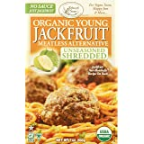 Edward & Sons Organic Young Jackfruit Meatless Alternative Unseasoned Shredded, 7 Ounce (Pack Of 6)