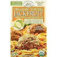 Edward & Sons Organic Young Jackfruit Meatless Alternative Unseasoned Shredded, 7 Ounce (Pack Of 6)