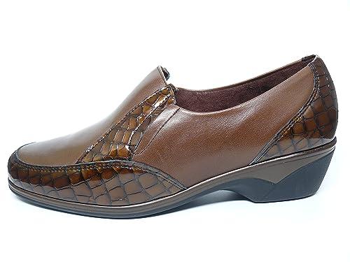 disponible Zapatos cómodos mujer extraible combinado PITILLOS mocasín coco plantilla tipo charol piel BZPwBxHq6
