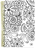"bloom daily planners UNDATED Coloring Book Planner - 6"" x 8.25"" - Coloring Book Style"