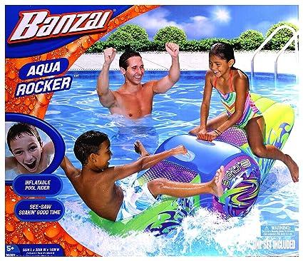 Amazon.com: Banzai Aqua Rocker inflable piscina Balancín ...
