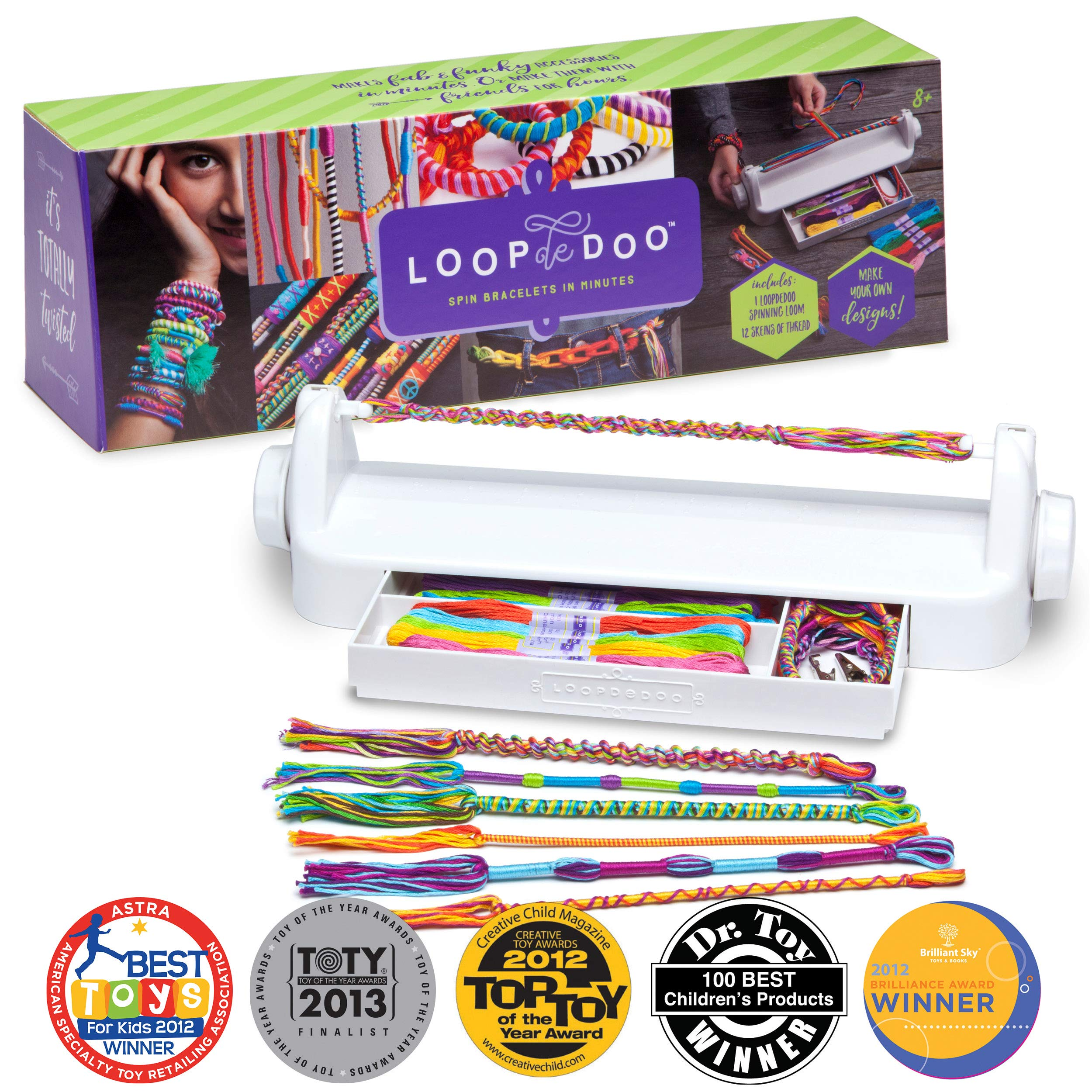 Loopdedoo - DIY Friendship Bracelet Maker Kit - Make Bracelets In Minutes - Award-Winning Craft Kit by Loopdedoo
