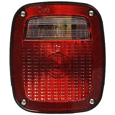 Grote 50912 Torsion Mount Three-Stud GMC Stop Tail Turn Light (LH w/ License Window): Automotive