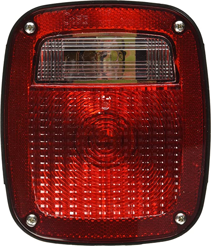 Grote 50902 Torsion Mount Three-Stud GMC Stop Tail Turn Light RH with License Window