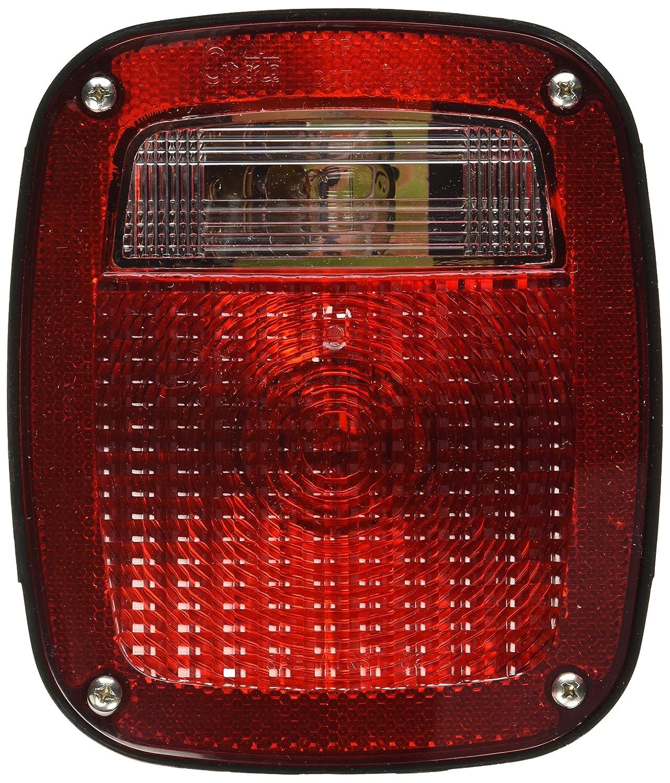 LH w// License Window Grote 50912 Torsion Mount Three-Stud GMC Stop Tail Turn Light
