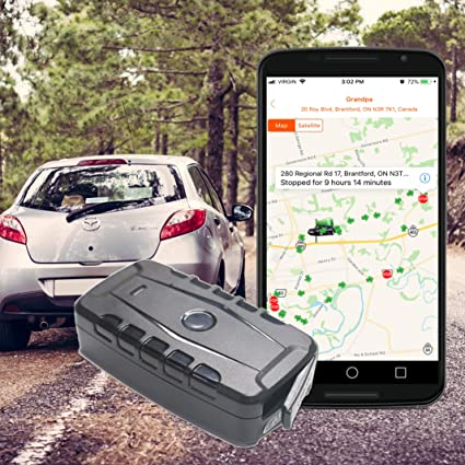 GPS Tracker for Car Truck Boat, Magnetic, Real Time GPS Tracking,  Rechargeable Long Life Battery, Portable, Water Resistant (Includes SIM  Card,