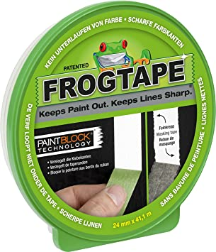 GREEN 24MM x 41.1M FROG TAPE PAINTERS MASKING TAPE MULTI SURFACE
