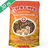 PICKY NEB Whole Mealworms for Chickens 30oz - 100% Non-GMO Large Dried Meal Worms Bulk - High-Protein Chicken Treats (Ducks, Wild Birds, Turtles, Hamsters, Fish, and Hedgehogs Too)