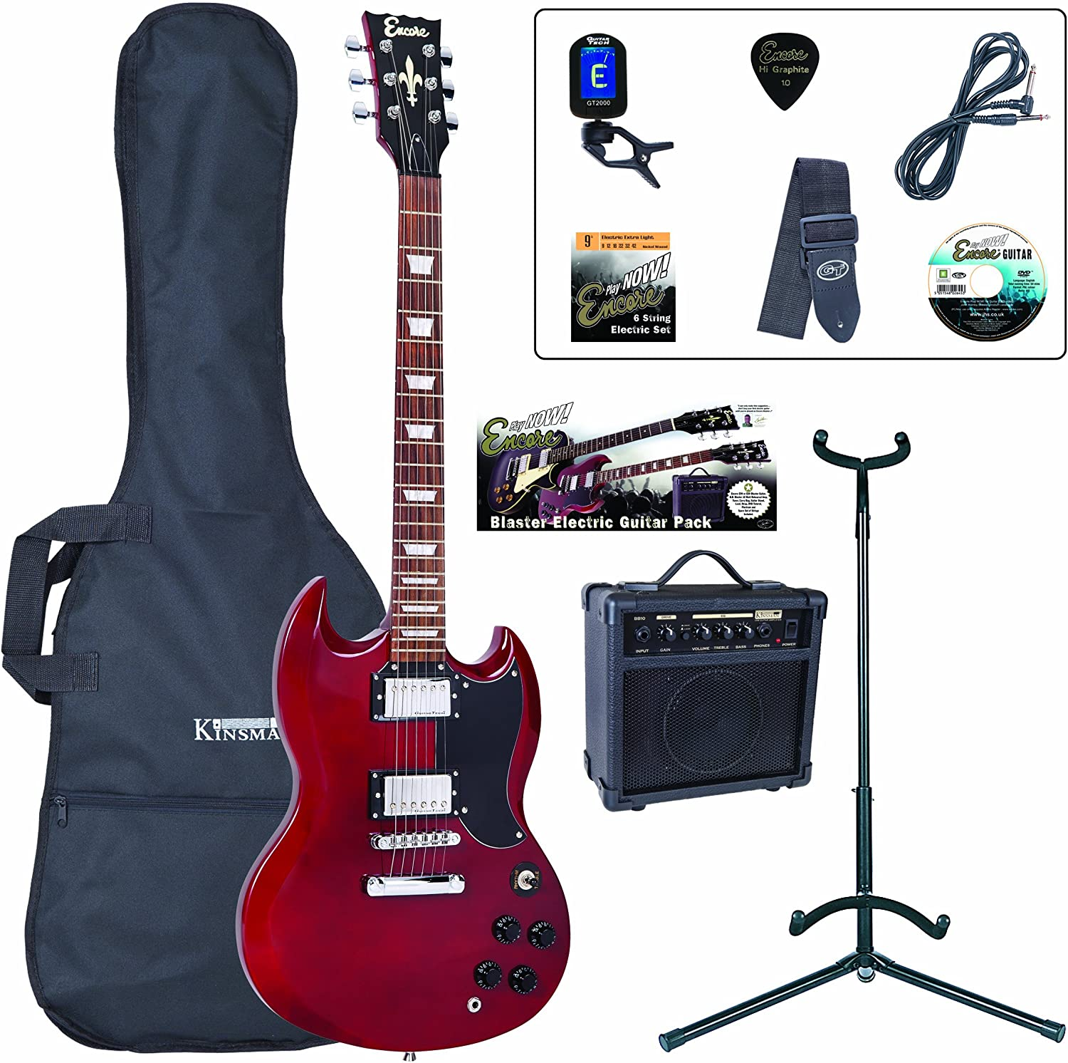 Encore EBP-E69CR de la guitarra eléctrica Bundle: Amazon.es ...