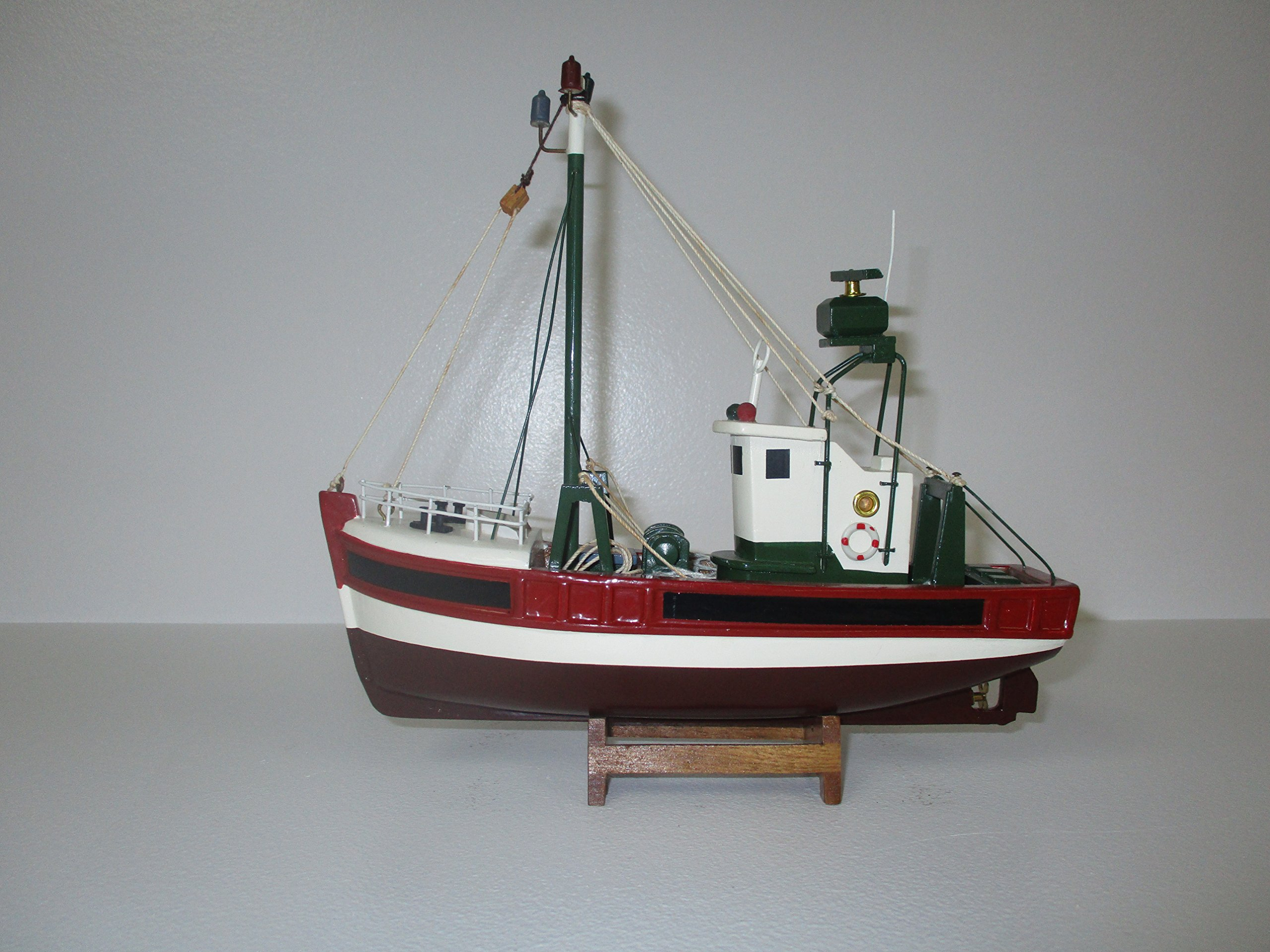 Dazzle Dees Wood Model Fishing Boat