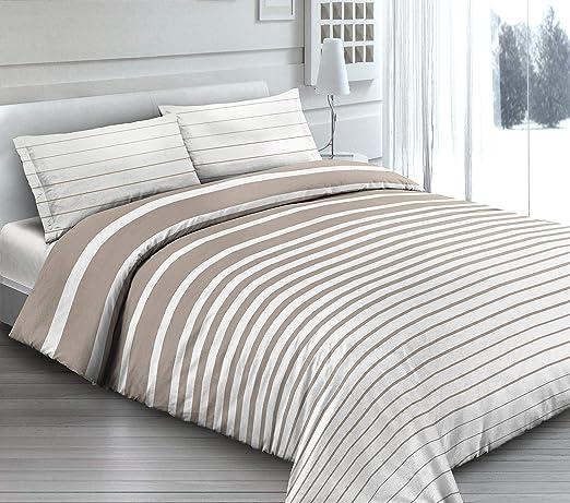 Funda nórdica (100% algodón para cama de 1 Plaza y Media Rigato ...