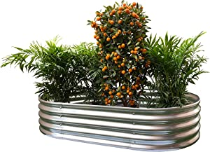 Oval Metal Raised Garden Bed Planter 58