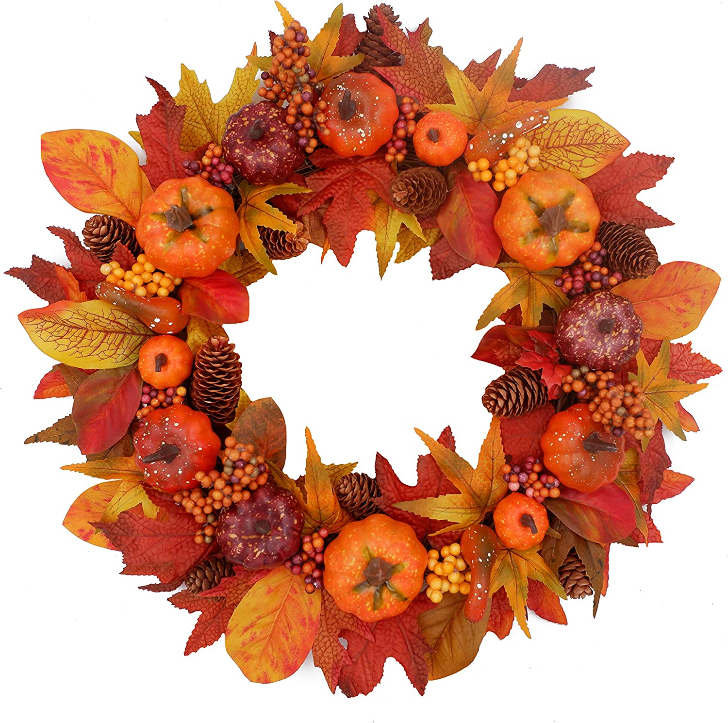 Amazon Com Tiny Land 20 Inches Fall Wreath For Front Door Bonus