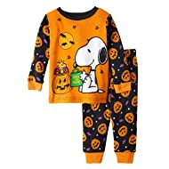Baby Peanuts Snoopy & Woodstock Halloween Cotton Snug Fit Pajamas (18 Months) Orange Black