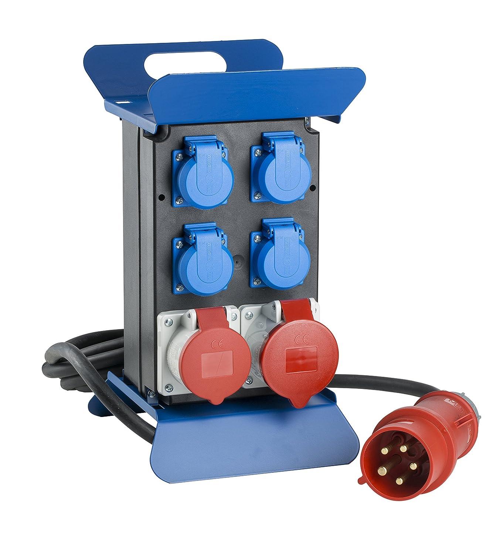 as - Schwabe 60506 STECKY Stromverteiler 400V II, IP44 Aussenbereich