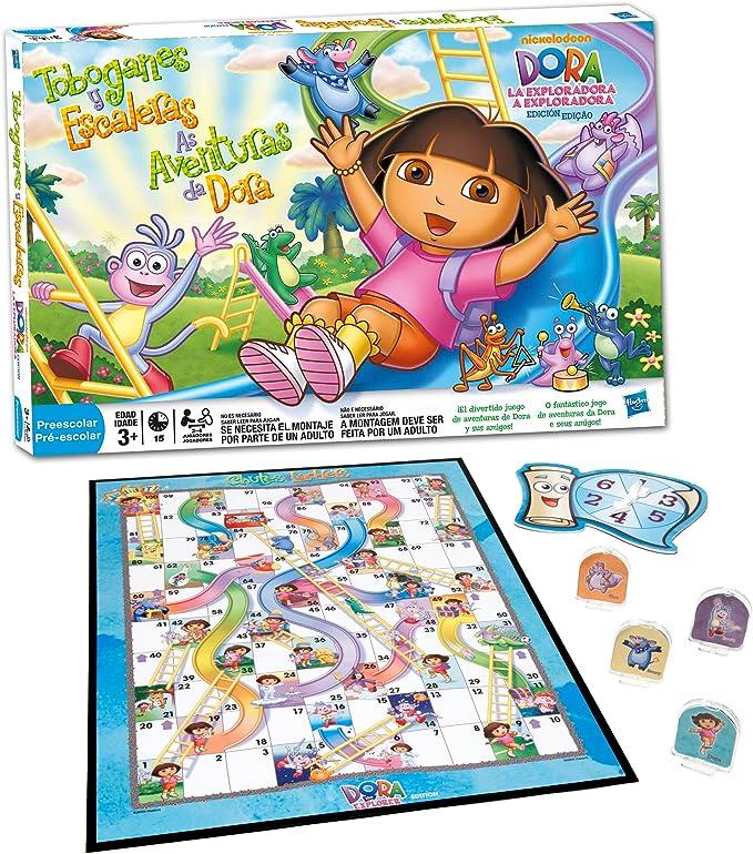Hasbro Dora la Exploradora Escaleras y toboganes - Juego de Mesa: Amazon.es: Juguetes y juegos