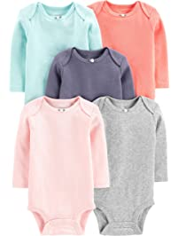 Simple Joys by Carter s Baby Girls  5-Pack Long-Sleeve Bodysuit 67f02c469