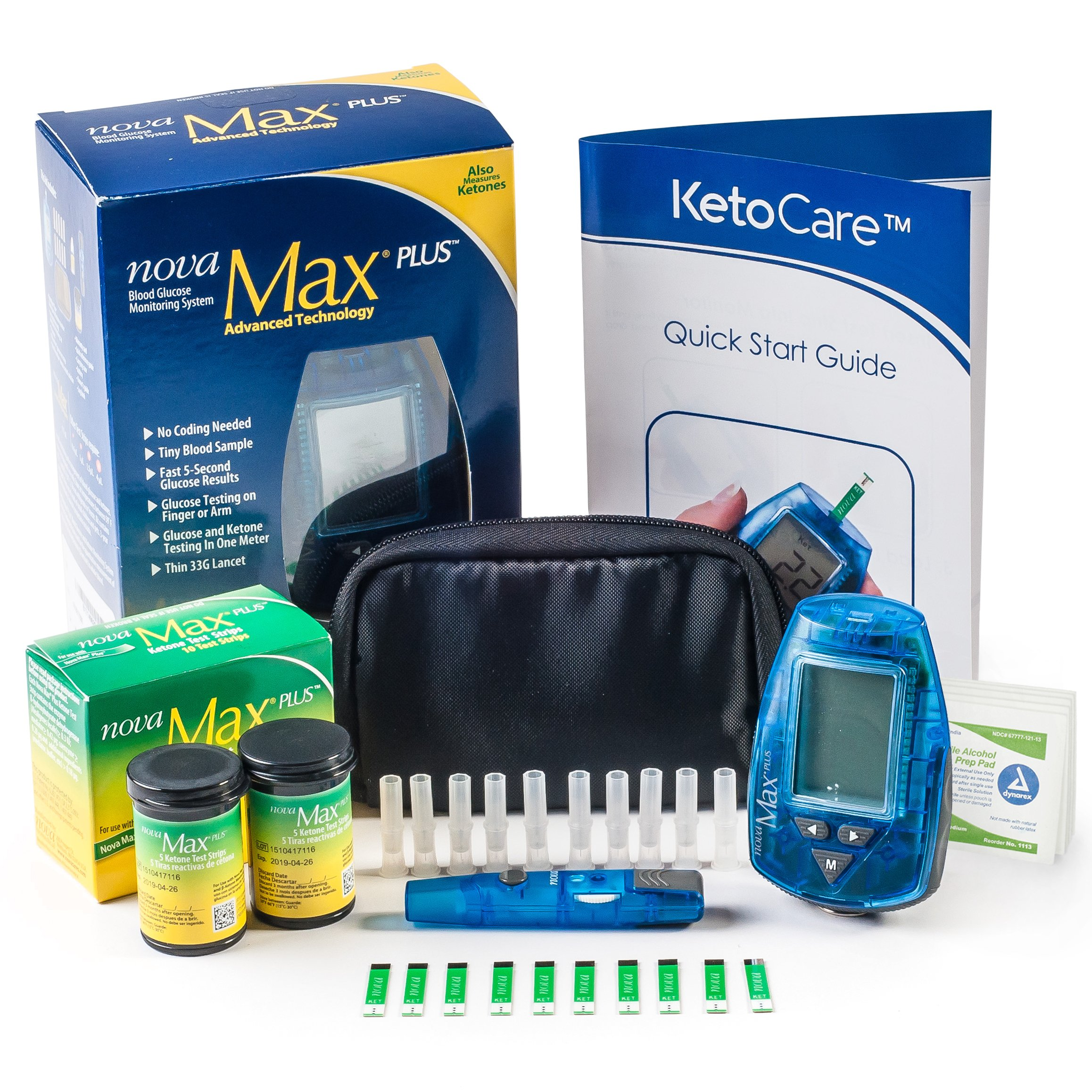 Ketocare Blood Ketone Meter & Monitoring System - Includes Everything Needed for Ketosis Testing & Ketogenic Diet Tracking (Strips are not Compatible with The Precision Xtra Blood Ketone Meter) by Ketocare