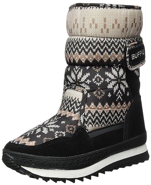 Sibba Schneestiefel Thermostiefel wasserdichte Stiefel mit Nylongewebe gefüttert für Damen und Mädchen (EU40(255mm)/CN41 (Erwachsene), Grau)