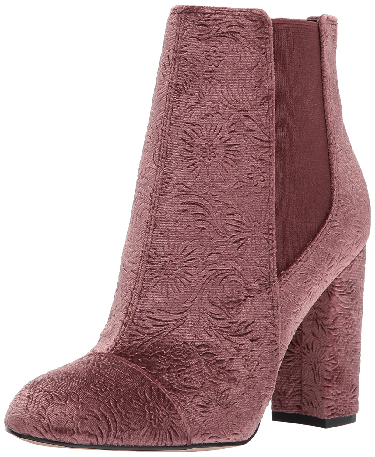 Sam Edelman Women's Case Chelsea Boot B06XC7R3RS 9.5 B(M) US|Mauve Wine Embossed Velvet