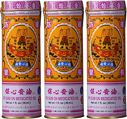 Po Sum On Medicated Oil, Pack of 3, USA Version