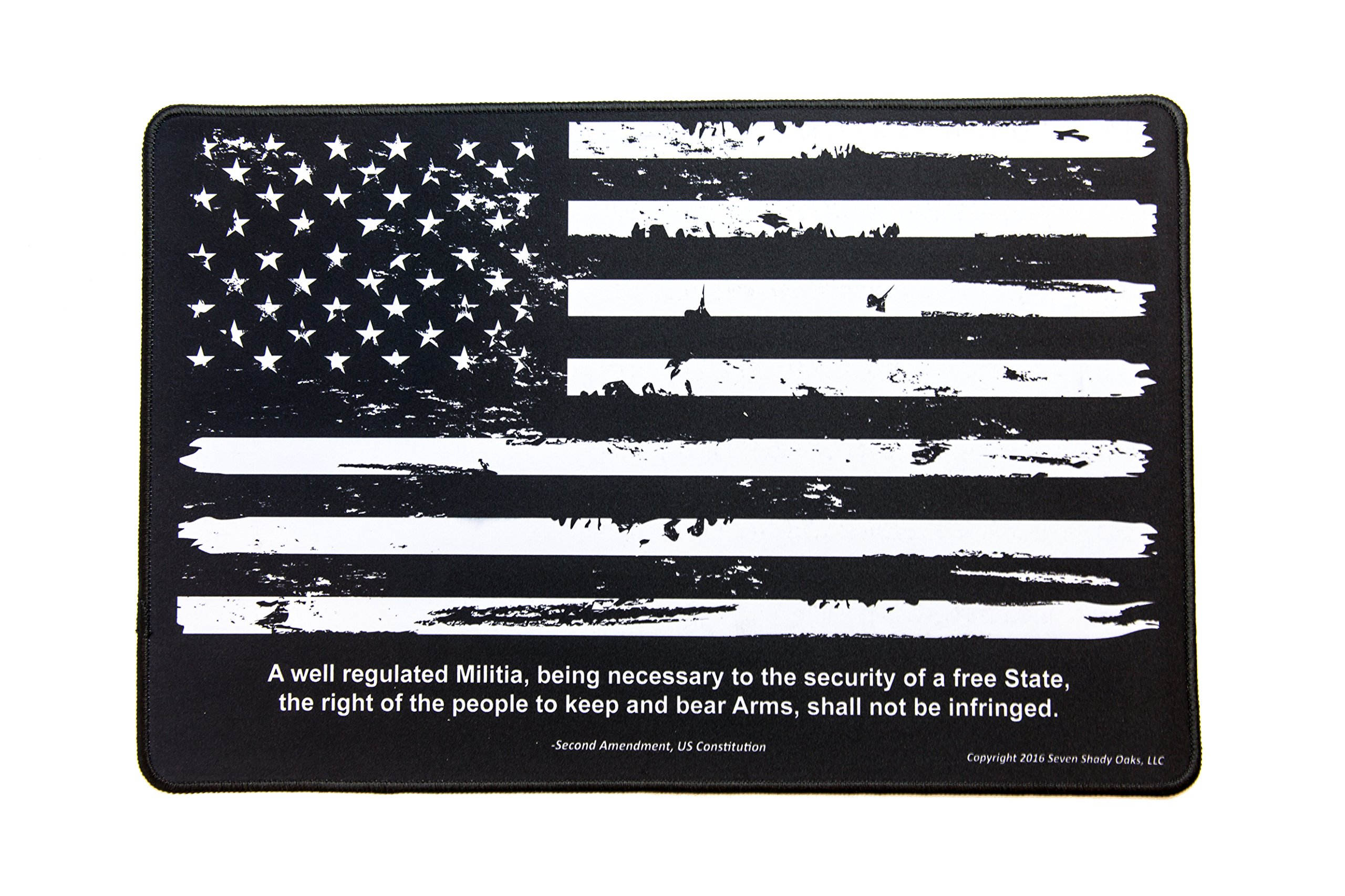 Ultimate Rifle Build Gun Cleaning Mat 11''x17'' - Distressed Flag & 2nd Amendment by Ultimate Rifle Build