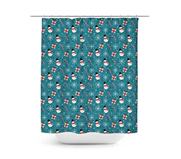 Snowmen And Candy Canes Shower Curtain