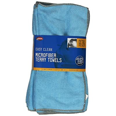 Carrand 45067 Microfiber Terry Towel (12-Pack): Automotive