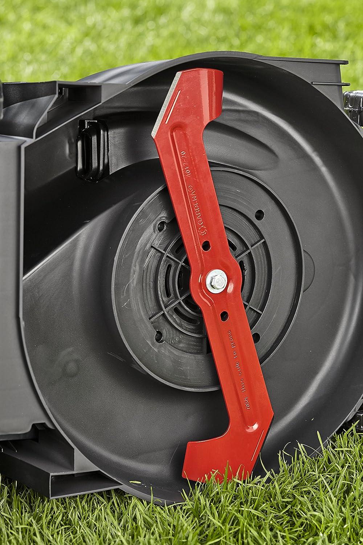 Cortacésped eléctrico PowerMax 1800/42 de GARDENA: segadora hasta 800 m², ancho de corte 42 cm, volumen 45 l, altura de corte 20-60 mm, manillar plegable, ...